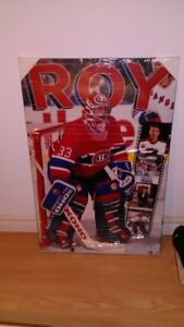 """Mint in pkg 1994 Patrick Roy Montreal Poster Board 22"""" x 34"""""""