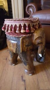 Gorgeous Hand Carved Foots Stool or Seat