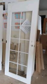 826mm glass door white