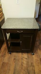 Kitchen Island/tea cart with Granite top!
