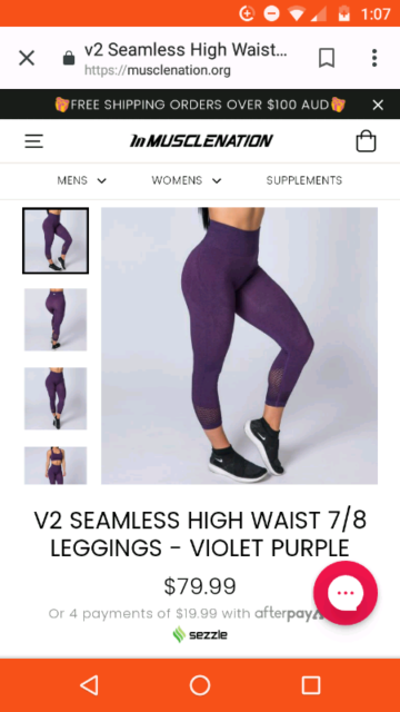 1d19b13ca227a7 Muscle Nation high-waisted seamless leggings | Other Women's ...