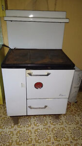 antique wood stove & oven-rare find