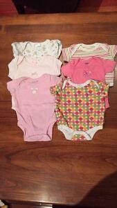Baby girl onesies (0-3 months)  - summer