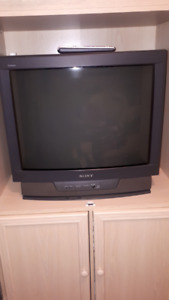 Color T.V. Old Style, 27 Inch Sony.