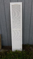3 sets of decorative white vinyl shutters