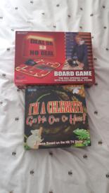 Deal or No Deal & I'm a Celeb Board Games Job Lot