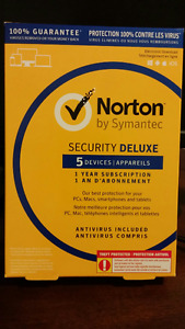 Norton Security Deluxe + anti virus, 5 devices, 1yr