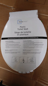 New plastic toilet seat