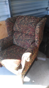 Large upright living room chair.