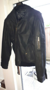 Double Extra Large Men's Leather Jacket  (151)