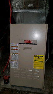 Furnaces and oil tanks for forced air baseboard hot water system
