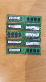 5x 2Gb DDR2 Ram memory