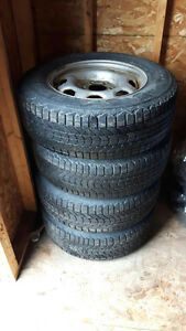 Used Firestone Winterforce tires and wheels