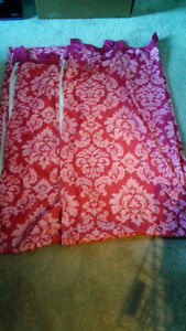 Pair of Pink Curtain Panels For A Little Girls Room