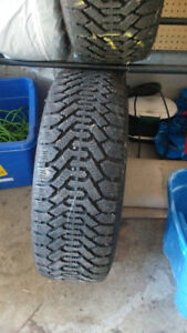 2 Goodyear Nordic snow tires for sale