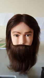Training Dannyco Practice Mannequin Male, Head Real Hair