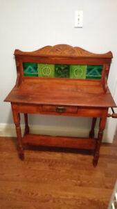 A Steal of a Deal! Antique Tiled Wash Table $150
