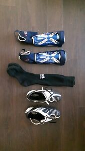 UMBRO Soccer cleats & shin pads