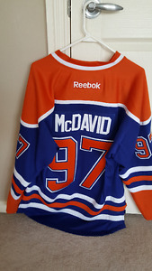 Oilers Connor McDavid Authentic Medium Stitched Jersey New!!