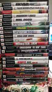 PS2 games lots to choose from $3 each or buy all together