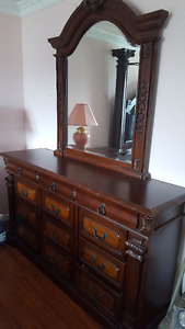 Executive long dresser with mirror