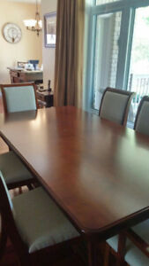 Canadian made Dining Room Set with 8 Chairs