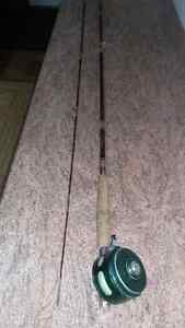Ligne a Mouche Truite Peche Canne Moulinet Fly Rod Reel Fishing
