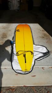 8 ft 4 inch Fibreglass Surfboard Malibu Longboard good condition