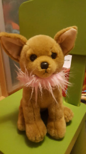 Large Ty Beanie Babies Chihuahua Fancy Pink Scarf Plush Toy
