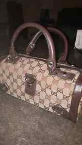 Authentic Gucci Purse. Canvas with Brown Leather trim Kitchener / Waterloo Kitchener Area image 1
