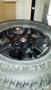 Jeep Grand Cherokee Snow Tires on Rims