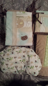 Baby crib bedding set.
