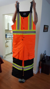 High Visibility Insulated Bibbed Coveralls