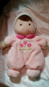 """Carter's MY FIRST DOLL Just One Year 10"""" Plush RATTLE Baby"""