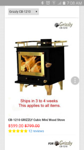 Brand New, Never Used Cubic Grizzly Wood Stove