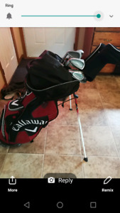 Callaway golf bag and mixed brand clubs