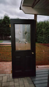 Exterior Doors (2) Black w/ Window Pane