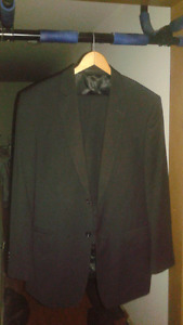 FREEDS SUIT - 40 TALL, 34 WAIST - BLACK, GOOD CONDITION; NO TAX