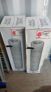 "2 new 6"" x 36"" chimney sections in the box"