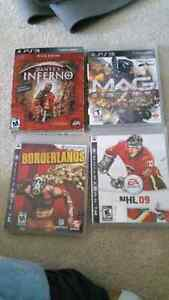 Selling PS3 games!! $15 for all 4 games or $5 each.