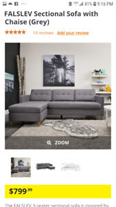 BRAND NEW!!! Sectional Sofa with Reversible Chaise