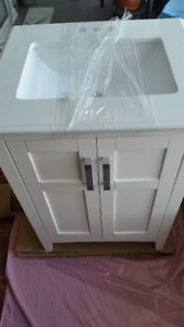 "Brand New 25"" Bathroom Vanity with Quartz Countertop and Sink"