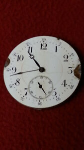 VINTAGE R.H.JUPP POCKETWATCH MOVEMENT ORILLIA ON - PARTS/REPAIR