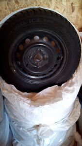 Set of 4 winter tires + rims.  Used 1 season only.