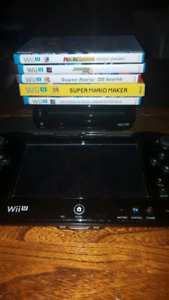 Wii U with 6 games