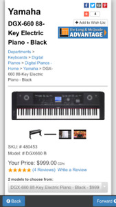 Yamaha Portable Grand Piano DGX-650