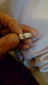 Mans horoscope spinner ring