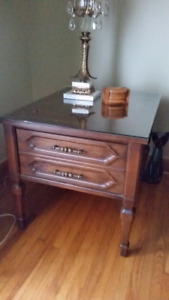 SOLID WOOD END TABLES AND COFFEE TABLE - set of 3