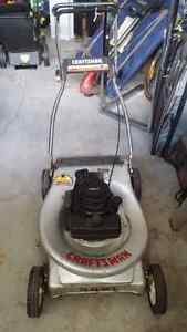 Two lawnmowers for sale with bags