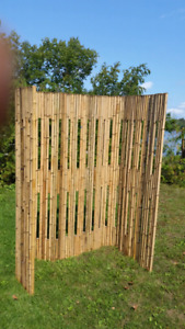 Bamboo walls. 6' x 8'.  $60 each. 5 available.